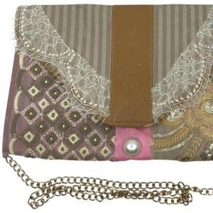 FENDI Vintage Customized Crossbody/ Clutch W/ Lace